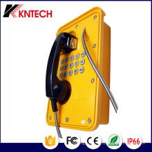 Telefones com serviço pesado Knsp-09 com cabo blindado Kntech