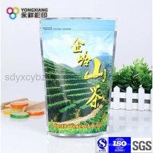 Personalizado Impreso Stand Up Bolsa de aluminio con cremallera para el té / café