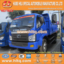 FOTON brand 4x2 8m3 102hp tipper truck 4-5 tons good quality and low price for sale In China