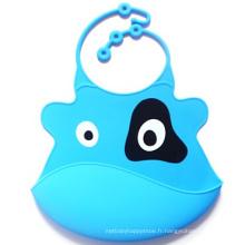 Bavoirs en silicone faciles à nettoyer pour bébé / enfant / enfants