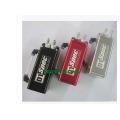 Universal Square Oil Catch Can with Alumunum 0.5L Black/Red/Silver