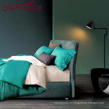 Высокое качество постельных принадлежностей гостиницы Поставщик постельное белье 100% Cotton60s обычный серый постельное белье комплект