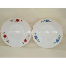 Placa de sopa barata, pratos e pratos, prato de porcelana sopa