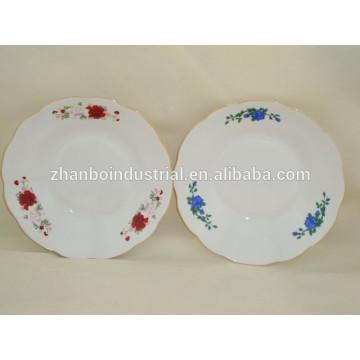 Assiette à soupe bon marché, vaisselle et assiettes, assiette à la porcelaine