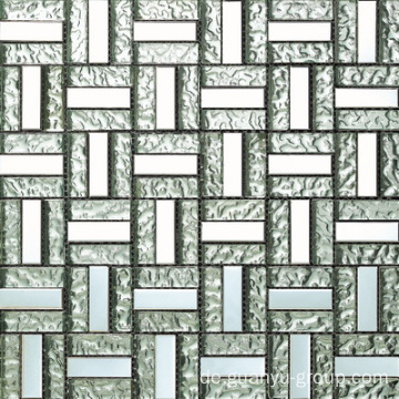 Aluminium Mix Bump Glass Block Mosaik