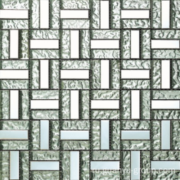 Silver Color Mix Aluminum Glass Mosaic