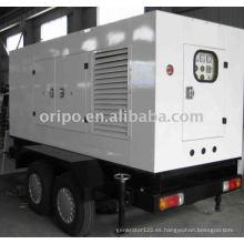 OEM de primera calidad marca shangchai remolque diesel generador con alternador leadtech