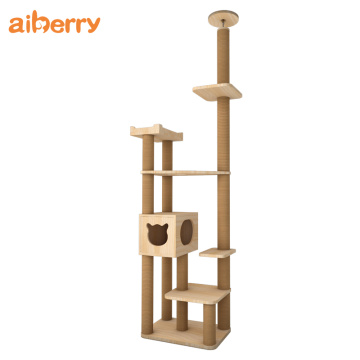 Groothandel Modern Pet Cat House Climbing Tree Tower