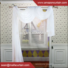 New Curtains Style For 2016 New Design 100% Polyester Good Quality But Cheap organza Window Curtain