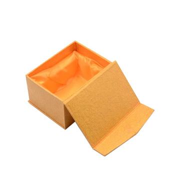Custom Logo Yellow Luxury Magnetic Closure Rigid Cardboard Small Flat Packed Packaging Gift Box