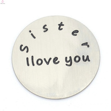 New 316l stainless steel 22mm silver sister I love you letter floating plates jewelry