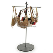 Bag Retail Shop Metal Material 4 Way Hooks Hanging Handbag Wholesale T Stand Display Fixtures