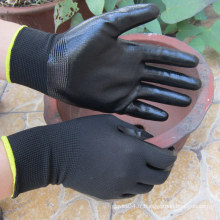 Nitrile Dipped Glove Polyester / Nylon Nitrile Coated Glove