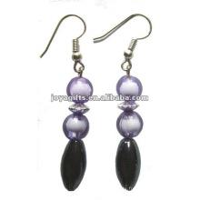 Boucles d'oreilles à perles magnétiques