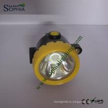 Impermeable y Ex-Proof 2200mAh Lámpara de cabeza de minería recargable