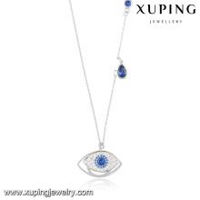 41358 Fashion Elegant Cubic Zirconia Evil Eye Rhidouim Jewelry Pendant Necklace