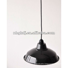 enamel lamps shade with pipe and E27 holder