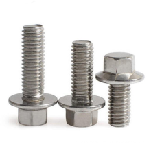High Quality 304 316 Stainless Steel DIN 6921 Hex Flange Bolt Motorcycle Hex Flange Bolts