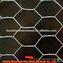BWG 26 red de alambre hexagonal recubierta de pvc blanco