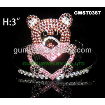 valentine bear tiara crown