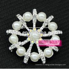 Pendentif en perle perle cristalline et autrichienne