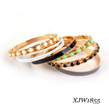 Bead Enamel Iron Bangle Set (XJW1855)