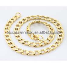 316L colar de aço inoxidável para homens IP / G aço inoxidável corda cadeia colar