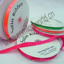 Beautiful polyester satin ribbon colorful