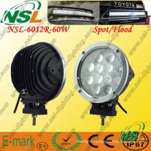 Luz de trabajo LED de 12PCS * 5W, Luz de trabajo LED de 5100lm, Luz de trabajo LED de 60W para camiones