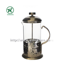 Glass Tea Set with Stainless Steel (10.5*13*21.5)