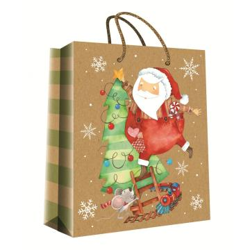 CHRISTMAS SERIES KRAFT GIFTBAG29-0