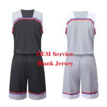 Mais novo Basquete Uniforme Kit Basquete Jersey Em Branco em Estoque Sublimação Respirável Seco Fit Basquete Personalizado Camisa