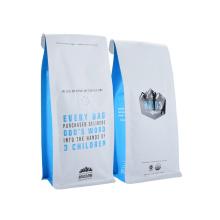 Printed Plastic Aluminum Foil Zip Lock Coffee Bag with Window