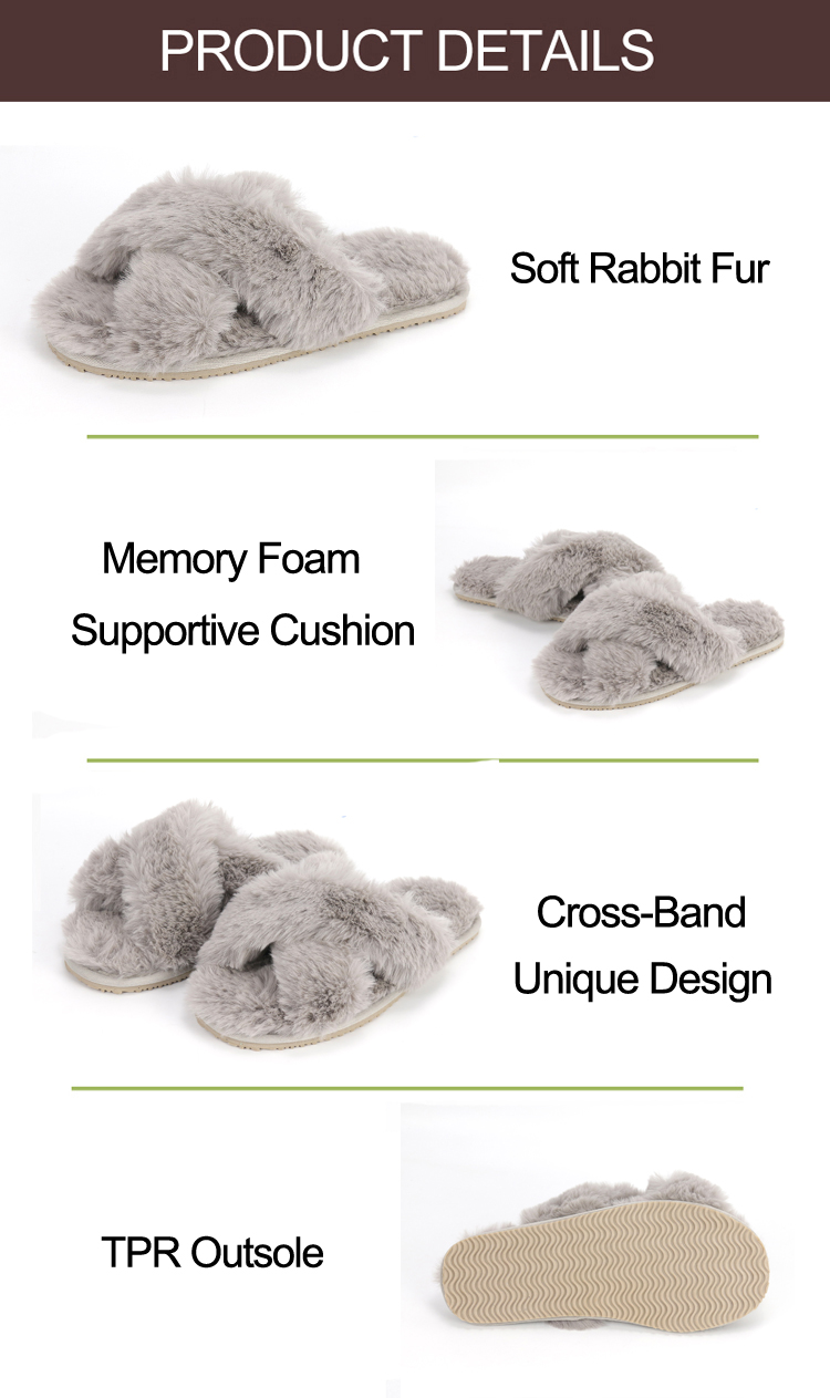 fur slides slippers