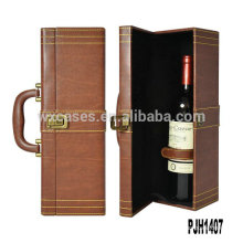 New arrival leather wine carrier for single bottle manufacturer
