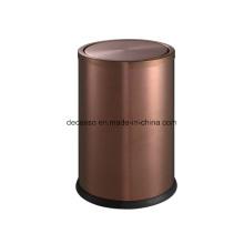 Escaninho de lixo de aço inoxidável rosa de ouro (DK100)