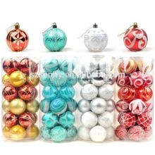 Bola de Navidad de pintura plástica interior de lujo