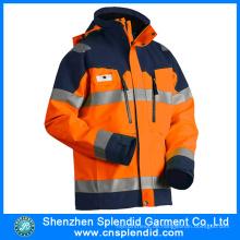 Outdoor-Hoch sichtbare Sicherheits-Winterjacke mit Reflexstreifen