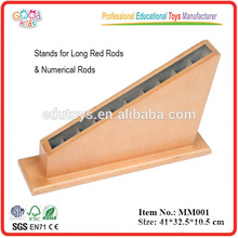 Montessori Preschool Educational Wooden Toys Rack for Red Rods