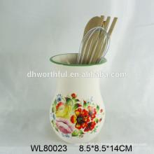 Современный держатель керамической посуды с цветочным деколем