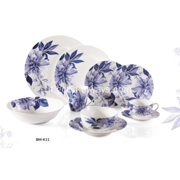 Nuovo Bone China blu floreale Dinnerware
