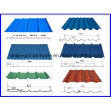 Folha de Telhado Ondulado SGCC / PPGI, Chapa de Aço Ondulado