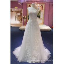 Strapless A Line Beading Beads Evening Bridal Wedding Dress