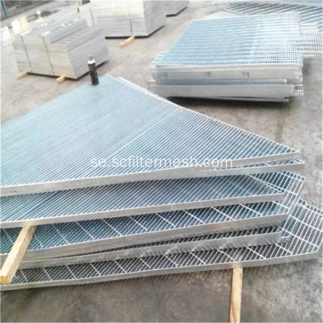Galvaniserad Serrated Steel Bar Grating Floor