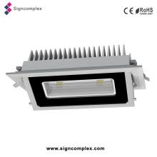 Quadrado Rotatable do teto da lâmpada do projector do diodo emissor de luz de Signcomplex 20W 30W