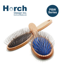 Dog Wooden Handle Pet Stainless Steel Pins Brush for Cat Hair