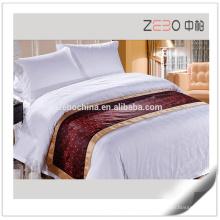 Beste Qualität Polyester Großhandel Dekoration Leinen Hotel Bett Läufer