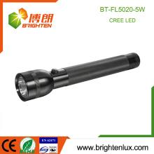 Usine d'usine Usage militaire Matthieu en aluminium robuste Le plus puissant Bright 3D actionné 5W Lampe torche à LED industrielle portable