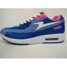 Zapatillas de deporte de los deportes respirables azules de las mujeres