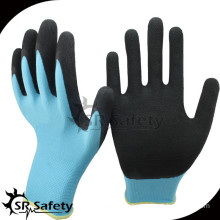 SRSAFETY 13g nylon shell latex foam coated agriculture work gloves